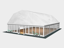 多拱形篷房